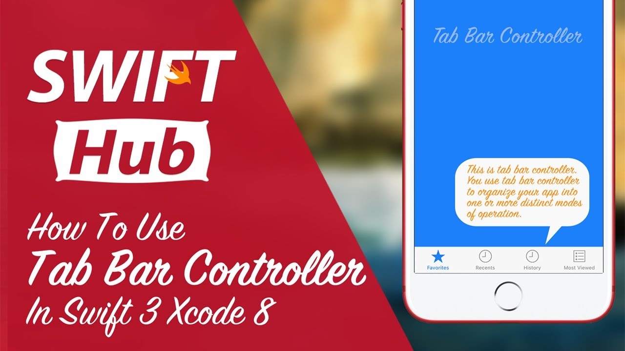 How to Use Tab Bar Controller in Swift 3 Xcode 8