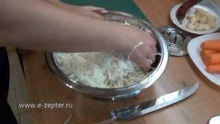 Салат из капусты с баклажанами - Очень необычно / Pickled cabbage and eggplant salad ♡ Eng.subtitles