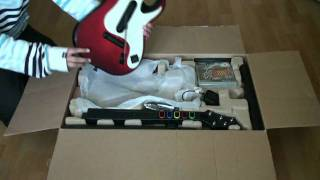Guitar Hero Warriors Of Rock Full Band Bundle Unboxing - PS3