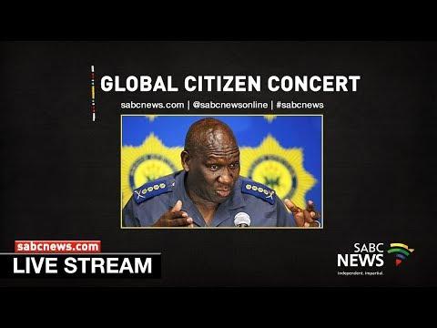 Police Minister Bheki Cele briefs media following Global Citizen Concert