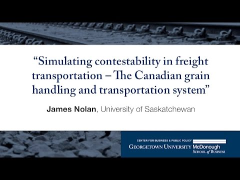 "James Nolan presents ""Simulating contestibility in freight transportation"""