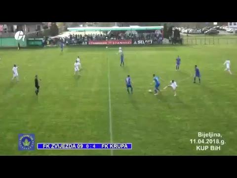 LIVE FK ZVIJEZDA 09 FK KRUPA KRUPA NA VRBASU POLUFINALE KUPA BiH 11.04.2018.