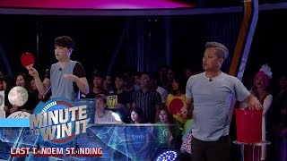 Super Pong | Minute To Win It - Last Tandem Standing