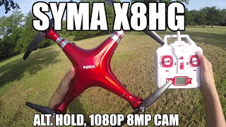 Syma X8HG RC Drone FALLS FROM THE SKY / Alt. Hold / 1080P Camera(Syma X8HG is the successor to the original X8C quadcopter with stronger brushed motors, 1080p/720p 8MP camera with GoPro compatible mount, and Altitude ..., 2016-08-24T23:51:08.000Z)