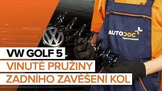 Jak a kdy vyměnit přední levý pravý Pružina podvozku VW GOLF V (1K1): video návody