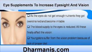 Best Eye Supplements To Increase Eyesight And Vision