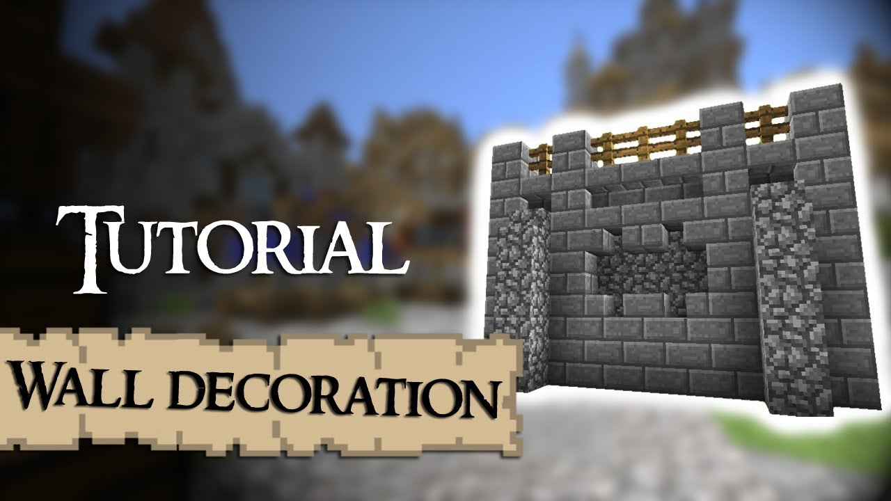 Minecraft Tutorial: How to decorate medieval walls - YouTube