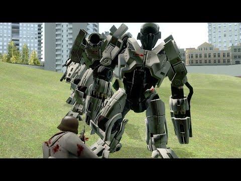 Mass Effect 2 Y.M.I.R. Mechs vs Military SNPCs (Nazi Germany) | Garry's Mod