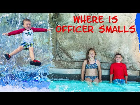 WATER PARK Fun TheEngineerngFamily Assistant and Batboy searched for Officer Smalls