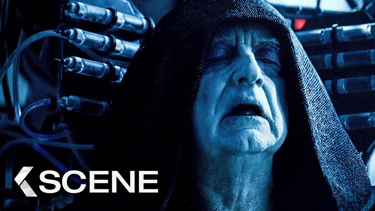 Rey Kylo Ren Vs Palpatine Fight Scene Star Wars 9 The Rise Of Skywalker 2019 Youtube