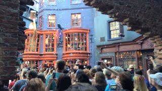 Diagon Alley grand opening fireworks, red carpet at Universal Orlando in Harry Potter expansion