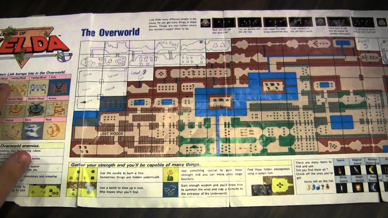 CGRundertow LEGEND OF ZELDA OVERWORLD MAP Video Game Accessory ...