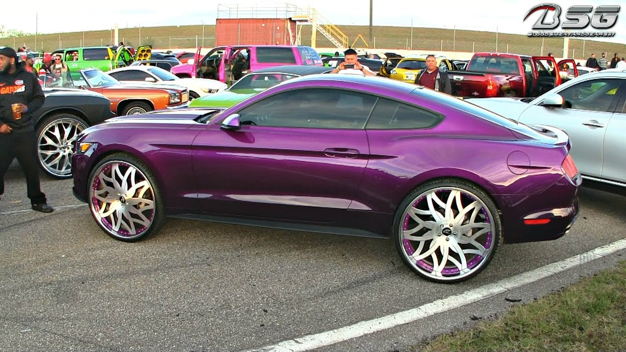 Kandy Purple Ford Mustang On 26 Quot Amani Forged Wheels Vito