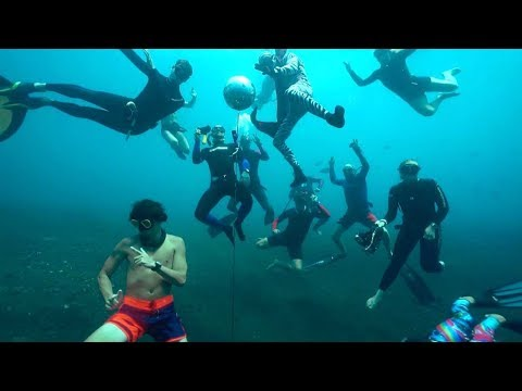 Diver Party Below The Waves At Underwater Disco