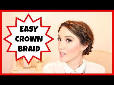 HOW TO: EASY MESSY CROWN BRAID!   Blair Fowler