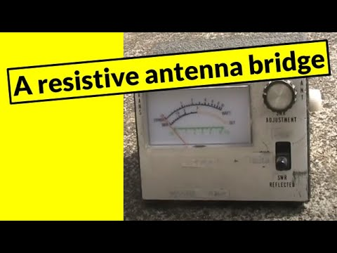 Inside a resistive antenna bridge (aka stealth tune-up indicator)