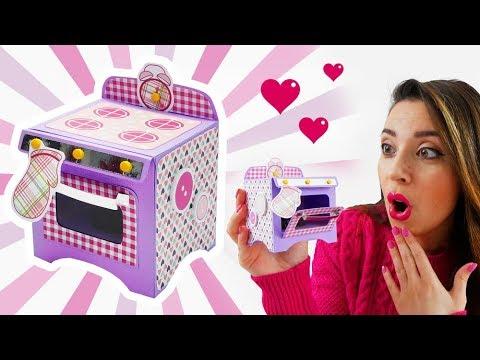 Crea un Fornetto di Carta con Mini Tortina! - Paper Oven with Mini Cake! DIY