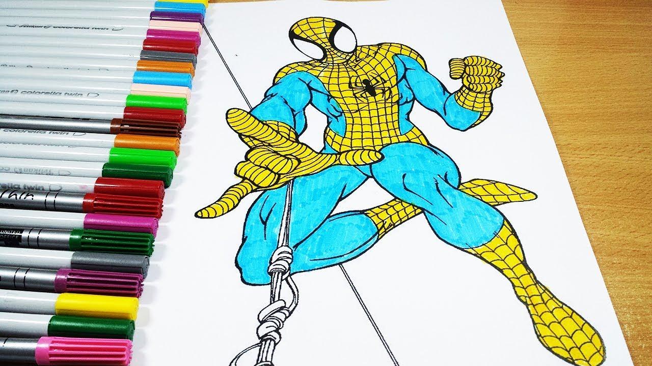 malvorlagen spiderman yellow  zeichnen und färben