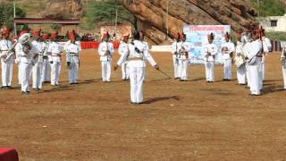 Sainik School Bijapur, Maratha Light Infantry Band at Badami  10