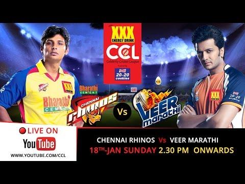 CCL 5 LIVE - Chennai Rhinos V/s Veer Marathi