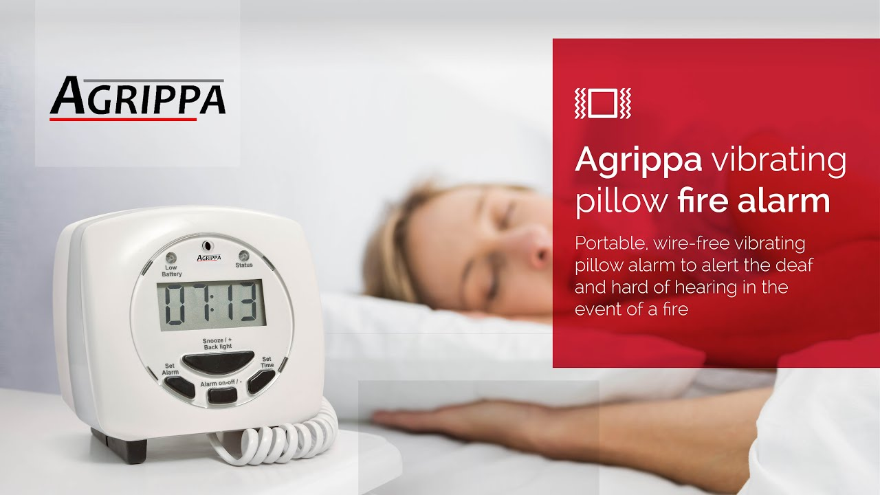 Agrippa vibrating pillow fire alarm for the deaf and hard ...