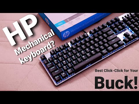 HP Mechanical Gaming Keyboard GK100 Unboxing And Quick Review | Mechanical Keyboard For Under $30!