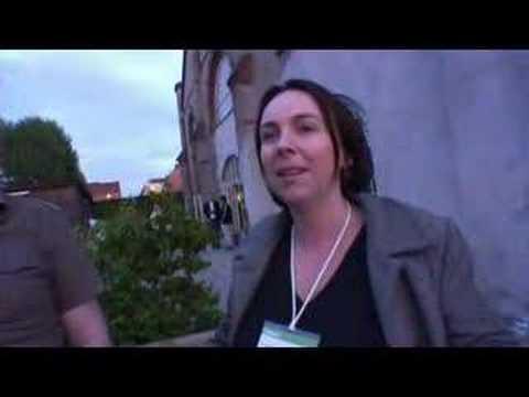 Leisa Reichelt and Tom Armitage at Reboot 9.0