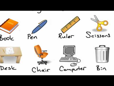 16 Classroom Objects Ingilizce Sinif Esyalari Youtube