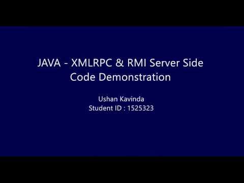 Java XML-RPC & RMI Recycling Machine code demonstration