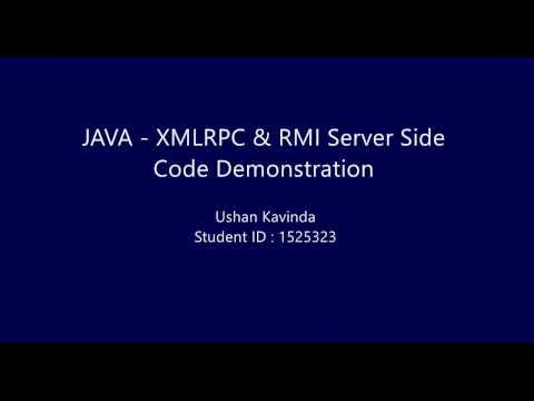 Java XML-RPC & RMI Recycling Machine code demonstration