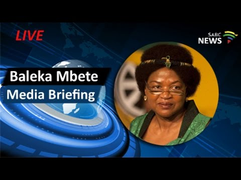 National Assembly Speaker Baleka Mbete holds news conference, 02 April 2017