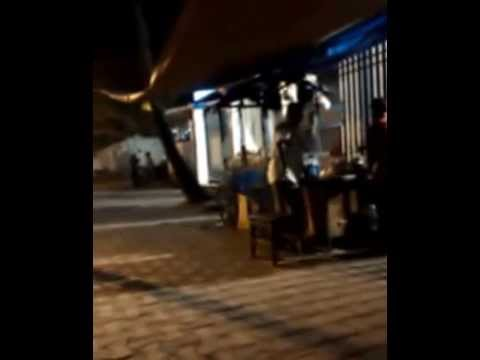 Evening time roadside tea-shop in Kolkata,India