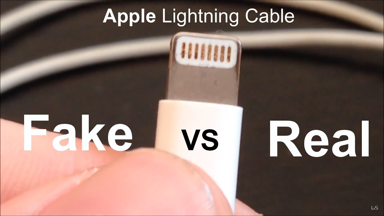 Headset Connector Wiring Fake Vs Real Apple Lightning Cable Youtube