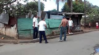 Pelea del gato vs bronx en el Carlos Fonseca