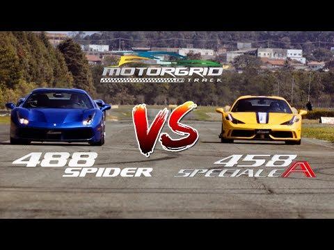 Ferrari 488 Spider Vs Ferrari 458 Speciale A  - Motorgrid Drag Race