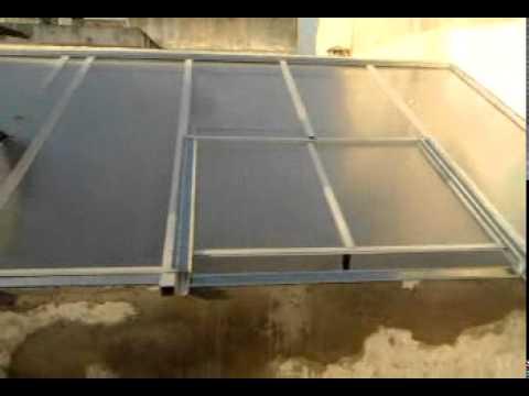 Techo corredizo de aluminio y policarbonato alveolar de 6m - Techo de aluminio ...