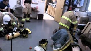 Tones go out for fire during funny 2 min. Drill