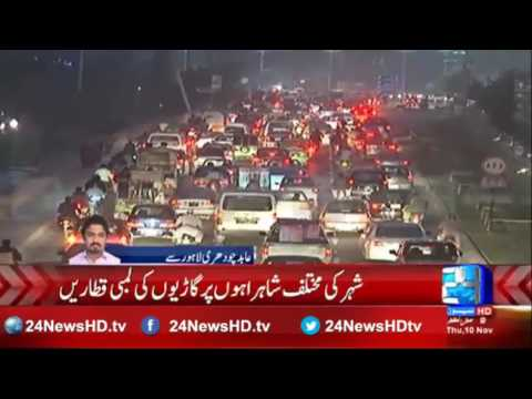 Worst ever traffic jam on the roads of Lahore