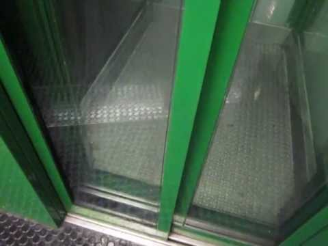 Bruno Haack hydraulic glass elevator at Bad Godesberg Stadthalle subway station in Bonn