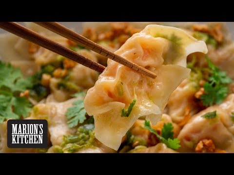 Thai Prawn Dumplings with Spicy Dipping Sauce - Marion's Kitchen