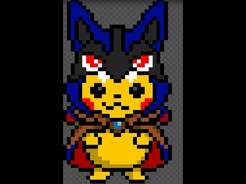 Pikachu Lucario Pixel Art L Pokemon L Jitox Youtube