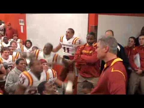 Iowa State postgame lockeroom celebration vs. Nebraska (10-24-09)