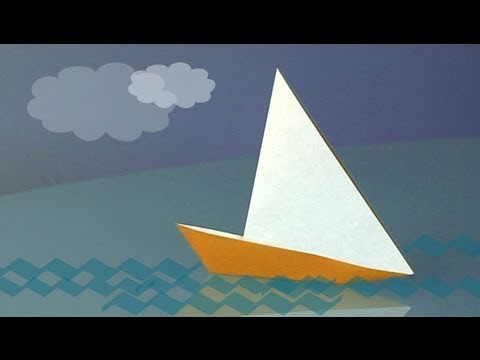 How to Make a paper sailboat, origami