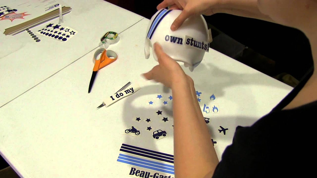 How To Apply Vinyl Decals For Cranial Helmet Or Band YouTube - Custom vinyl stickers for helmets