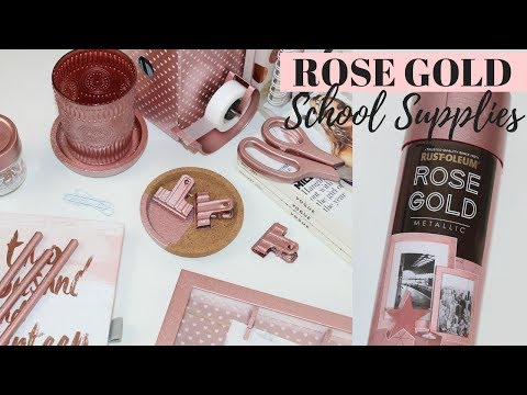 10 DIY ROSE GOLD SCHOOL SUPPLIES IDEAS - Easy & Affordable!