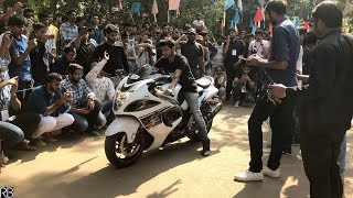 BMS COLLEGE SUPERBIKE ROARING REACTION