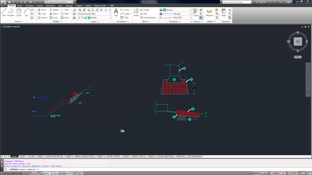 Autocad tutorial copy objects from one drawing to another for Copy cad