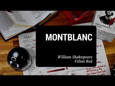 Montblanc William Shakespeare Velvet Red