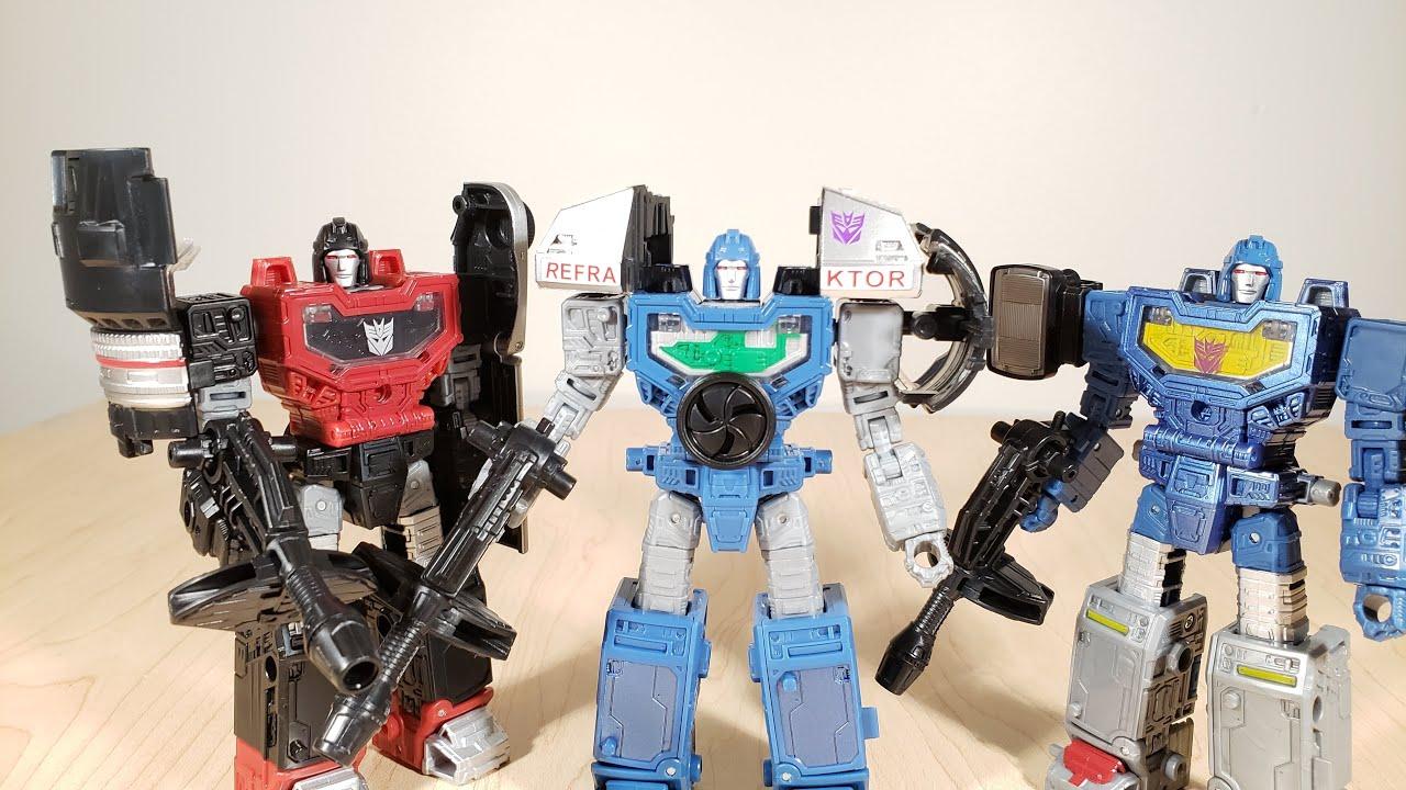 Transformers War Cybertron Siege Deluxe REFRAKTOR REFLECTOR G1 CAMERA TEAM SET