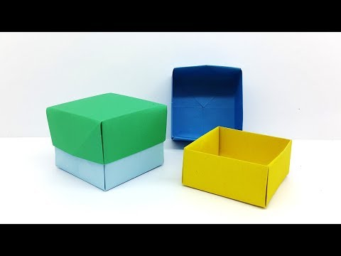 how to make a paper box that opens